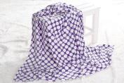 Bacati Dots Plush Throw, Purple, 130cm x 150cm