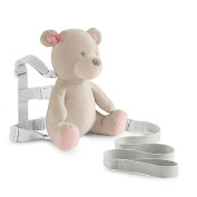 Carter's Bear Child's Safety Harness Backpack Plush with Detachable Secured Tether and Adjustable Straps in Pink