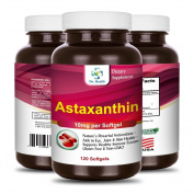 Astaxanthin 10mg 120 Softgels Powerful all Natural Antioxidant & Carotenoid High Purity Extra Strength Aids Eye, Brain, Joint, Skin, Heart Health & Anti-Ageing