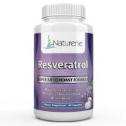 Naturene Resveratrol - 1200mg - Highest Potency Supplement On The Market - 60 veggie caps - 30 days