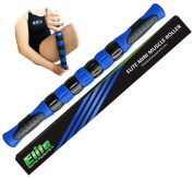 Elite Massage Muscle Roller Stick for Runners - Fast Muscle Relief from Sore and Tight Leg Muscles and Cramping. Four Bright Colours to Choose From.