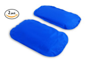 Gel Ice Pack Cold Compress - 2-Pack LARGE - Reusable comfortable soft touch vinyl provides  .  , rehabilitation and therapy for injuries