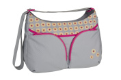 Lassig Basic Nappy/Changing Bag with Shoulder Strap, Daisy Mid Grey