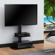 Fitueyes Swivel Floor tv stand with mount and two shelves for 80cm - 130cm Sony/ for for for for for for for for for for Samsung /LG/ Vizio TV TT206501GB