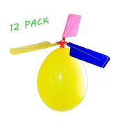 BAIVYLE Kids Toy Balloon Helicopter (12 pack)Children's Day Gift Party Favour easter basket, stocking stuffer or birthday!