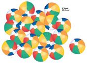 25 Colourful Beach balls Rainbow Colour Beach Balls 13cm Inch