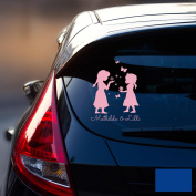 Car Sticker Rear Window Sticker Car Sticker Baby Snow Queen Frozen Children M1872, blue, M - 18cm breit x 25cm hoch