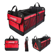 Aomaso Auto Trunk Organiser Nylon Foldable Design For All Vehicles Cars and Home With Triangle Warning
