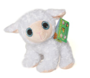 """ANIMALS ON THE FARM - Plush Toy white Sheep with bright eyes (9""""/25cm) - Super Soft Quality"""