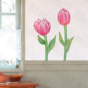 Red Lotus - Wall Decals Stickers Appliques Home Decor