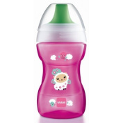 """MAM """"FUN TO DRINK CUP"""" HARD SPOUT, 270ML, 8M+ PINK"""