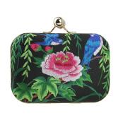 LY Flower Embroidered Encrusted Handbag Wedding Prom Evening Party Clutch Bag Purse Coin Wallet Shoulder Bag National Cell Phone Coin Handbag