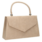 Kendall Suede Velvet Envelope Womens Party Prom Wedding Clutch Bag Purse Bag - SWANKYSWANS