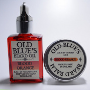 Old Blues Twin Pack Beard Oil & Balm Blood Orange Scent