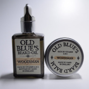 Old Blues Twin Pack Beard Oil & Balm Woodsman Scent