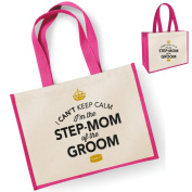 Step Mom Of The Groom Gift, Step Mom Of The Groom Bag, Tote Bag, Step Mom Of The Groom Keepsake, Grooms Step Mom, Step Mom Of The Groom