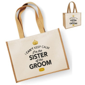 Sister Of The Groom Gift, Sister Of The Groom Bag, Tote Bag, Sister Of The Groom Keepsake, Grooms Sister, Sister Of The Groom