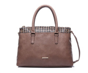 Shopper Bag/Shoulder Bag Women's Houndstooth Brown/Black