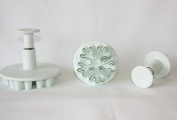Snowflake Plungers Cutters Set Of 3 Sugarcraft