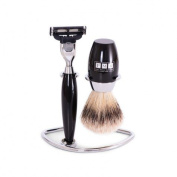 The Trafalgar Mach3 Black Resin Shaving Set