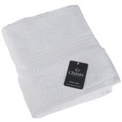 Christy Luxury Cotton Hand Towel - Georgia White - 550GSM - 50 x 90cm