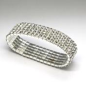 fi9® 3,4,5 Row Stretchy Stretch Diamante Silver Stretchy Anklet Ankle chain