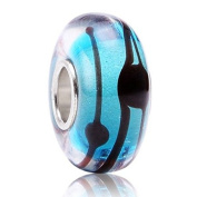 Murano Glass Beads to Fit Pandora Chamilia and Biagi Bracelets the Big Blue