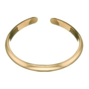 RS JEWELS 14K Yellow Gold Plated 925 Sterling Silver Simple Plain Adjustable Thin Toe Ring