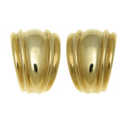Gold Plated Cabouchon Earrings