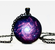 Nebula Pendant Galaxy Necklace Turquoise White Necklace for Him Art Gifts for Her