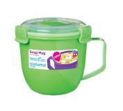 Sistema Klip It Microwave Soup To Go Mug, 565ml, Lime Green
