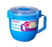 Sistema Klip It Microwave Soup To Go Mug, 565ml, Sky Blue