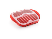 Lekue Microwave Bacon Cooker Red