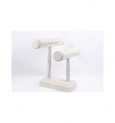 Display Stand for bracelets and Watches, rods made of 2 Solid Wood Painted White Painted