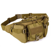 SUNVP Tactical Military Wait Bag Pack Fanny Bag Bumbag Hip Belt Pouch for Outdoors Running Camping Trekking Hiking