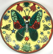 BOPLA! Espresso PLATE Butterfly Series Paradise 13cm 144g ASSIETTE Espresso - PIATTO Espresso - Espresso plate - PLATO Espresso ø13 CM, 5-1/8 in. ONE PRIMA PRESENT OR for COLLECT Suitable as Saucer to every BOPLA 0, 09l Espresso Cup, small Bread plate, ..