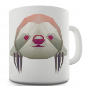 Twisted Envy Geometric Sloth Ceramic Mug