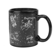 Loriver Heat Colour Changing Ceramic Coffee Mug Cup, Constellations Magically Appear
