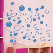 86 Bubbles Bathroom Window Wall Art Decoration DIY Sticker DIY Decals Removable Living Room Bedroom Bathroom Wall Decal Stickers-Blue