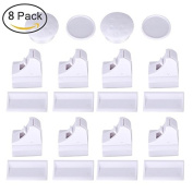 GHB Magnetic Cupboard Locks for Baby Safety Child Proofing 8 Locks 2 Key
