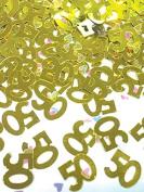 Amscan 9900841 14 g 50th Anniversary Metallic Confetti