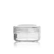 Pauler Vickers 15Pcs 3ml Cosmetic Empty Jar Pots for Eyeshadow Makeup Face Cream Lip Balm Container