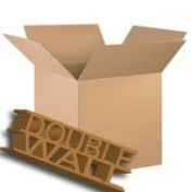"""10 x Large D/W Removal Moving Packing Cardboard Boxes 18x 18"""" x 30cm"""