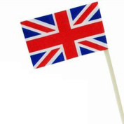 Sonline Union Jack Flag Cocktail Sticks - 50 Pack - Ideal For Parties BBq's Queens Jubilee