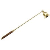 Brass Candle Snuffer/Carrier Wooden Handle with Brass Detailing Party Restaurant
