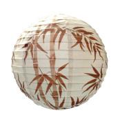 6918-40cm Brown Bamboo Design Paper Lantern Ceiling Pendant Shade.