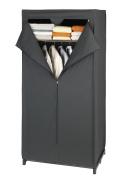 Wenko Deep Black 43821020100 Wardrobe 75 x 150 x 50 cm Plastic Film with Shelf Black