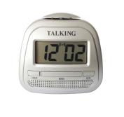 Kwanwa Talking Alarm Clock.Loud Talking Voice Silver Colour