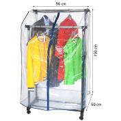 ArtMoon Anti Duster Long Clear Cover for Clothes Rail 150X60X96cm