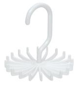 Kirinstores (TM) 360° Rotate Twirling 20 Hook Plastic Tie Rack Scarf Hanger Organiser